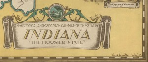 An Historical and Geographical Map of the State of Indiana