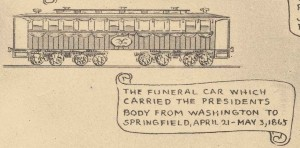 Funeral car - A. Lincoln pictorial outline of the life