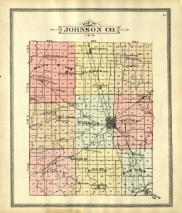 Map of Johnson County