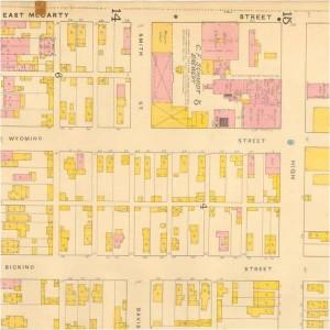 Schmidt brewery - 1887 Sanborn map