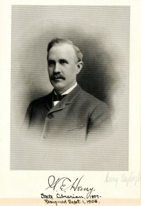 Henry, William E State Librarian 1897-1906