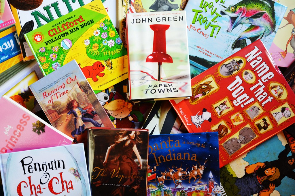 The Indiana Young Readers Collection includes books by Hoosier authors Jim Davis, John Green, Meg Cabot, Norman Bridwell, and many more!