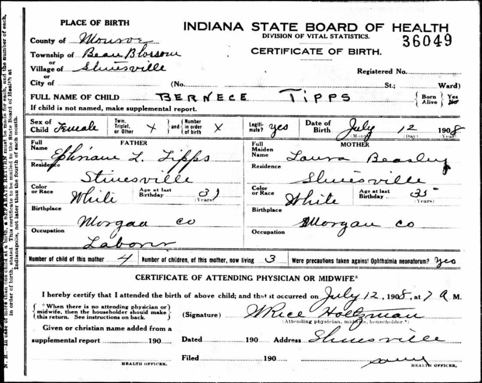 Finding Indiana birth, marriage and death records online
