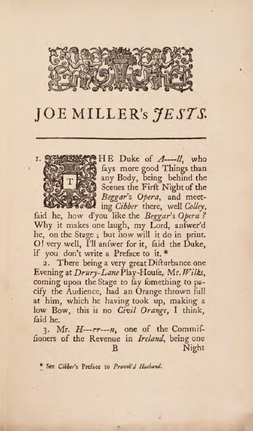 Humor-mongering: Or, an 18th century joke book - Indiana